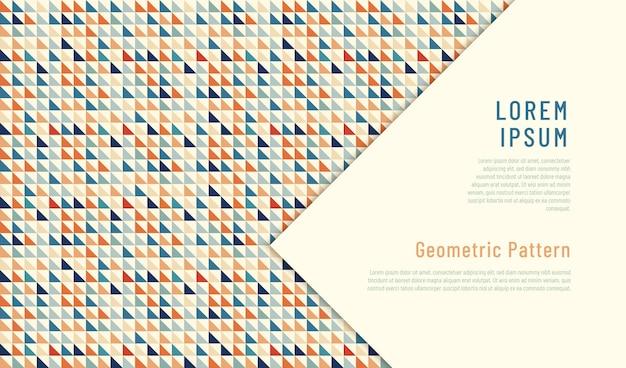 Projeto abstrato do teste padrão geométrico feito dos triângulos.