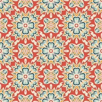Projeto abstrato floral vintage sem costura ornamental para tecido