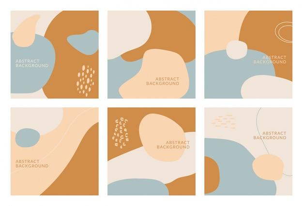 Projeto abstrato para mídias sociais insta insta feed post. doodle rabisco forma objeto desenhado de mão. copie o espaço para texto. banner de panfleto quadrado do instagram