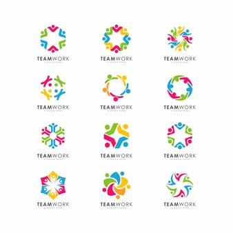 Projeto abstrato pessoas representa o trabalho em equipe