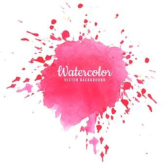 Projeto abstrato rosa aquarela respingo