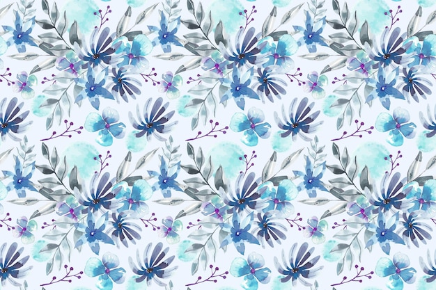 Projeto aquarela de padrão floral