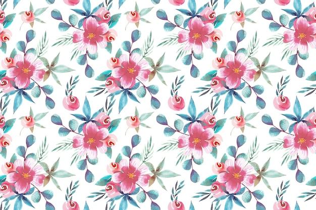 Projeto aquarela padrão floral
