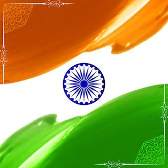 Projeto artístico abstrato da bandeira indiana