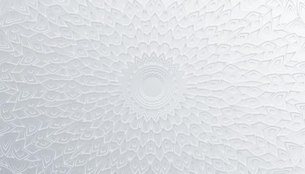 Projeto artístico do fundo branco da decoração da mandala 3d