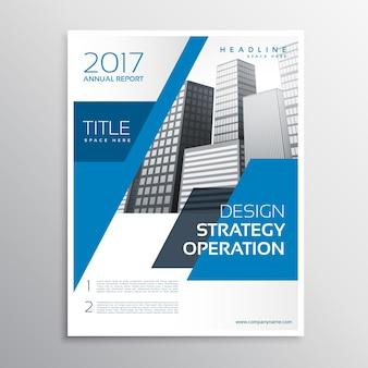 Projeto azul abstrato do folheto do negócio corporativo