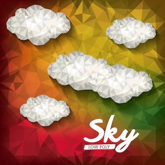 Projeto baixo poli das nuvens