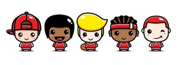 Projeto bonito da equipe de basquete
