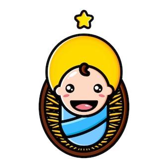 Projeto bonito de jesus do bebê
