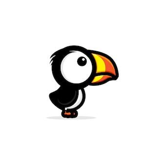 Projeto bonito do papagaio-do-mar do pássaro