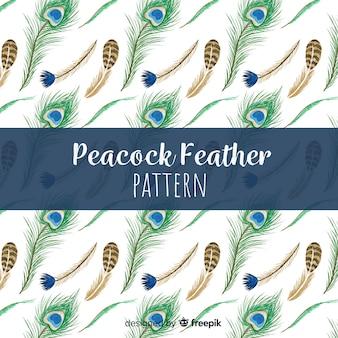 Projeto bonito do teste padrão da pena do pavão