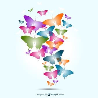 Projeto borboletas coloridas vetor