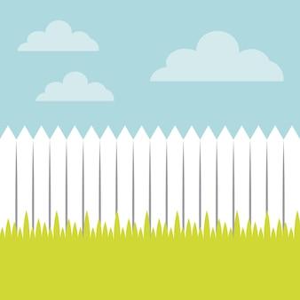Projeto branco da cerca