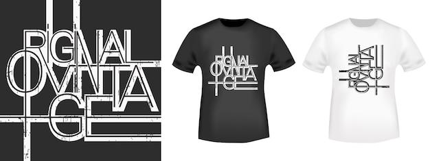 Projeto caligráfico da linha vintage original para camiseta