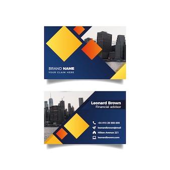 Projeto cidade e lago para cartão de visita