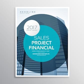 Projeto circulante do folheto do negócio corporativo