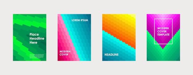 Projeto colorido da capa do livro pôster relatório anual de negócios corporativos, brochura, revista, maquete, panfleto