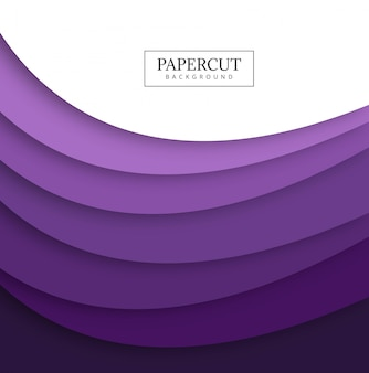 Projeto colorido da forma de onda do papercut abstrato