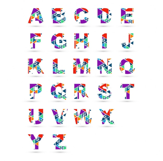 Projeto colorido do alfabeto