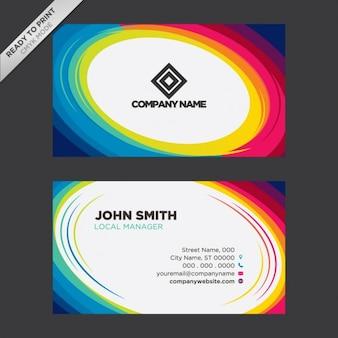 Projeto colorido do cartão de visita