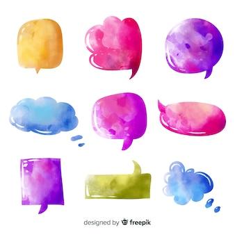 Projeto colorido do céu abstrato em bolhas do discurso