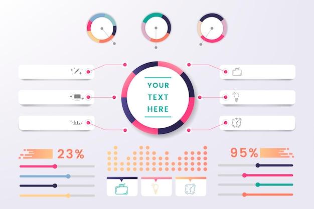 Projeto colorido do elemento infográfico