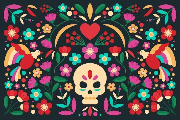 Projeto colorido do fundo mexicano