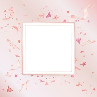 Projeto comemorativo do confetti cor-de-rosa claro