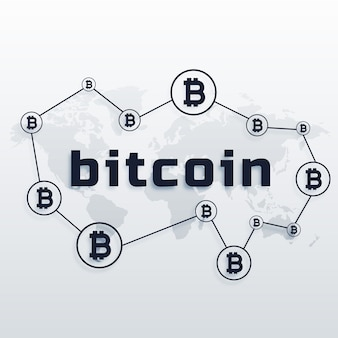 Projeto conceitual da rede mundial de moeda bitcoin