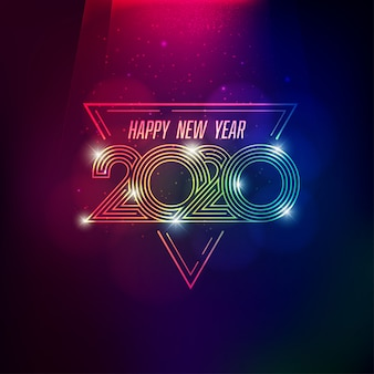 Projeto conceitual para 2020 feliz ano novo festival de decoração