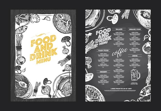 Projeto criativo do menu.