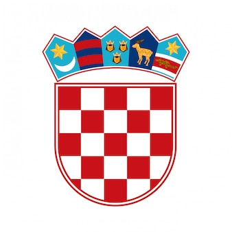 Projeto croácia sobre ilustração vetorial de fundo branco
