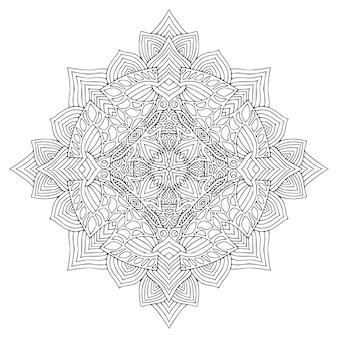 Projeto da arte da tatuagem padrão de ornamento detalhado