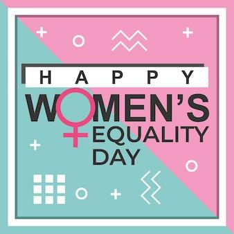 Projeto da bandeira do dia da igualdade das mulheres felizes