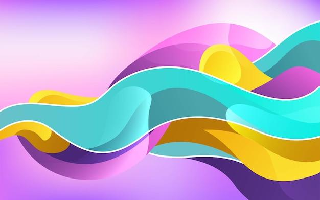 Projeto da bandeira do fundo colorido líquido abstrato moderno. pode ser usado em pôsteres, banner, web e muito mais.