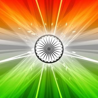 Projeto da bandeira indiana bonita