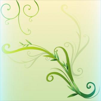 Projeto da borda da folha de videira verde