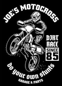 Projeto da camisa da garagem de motocross