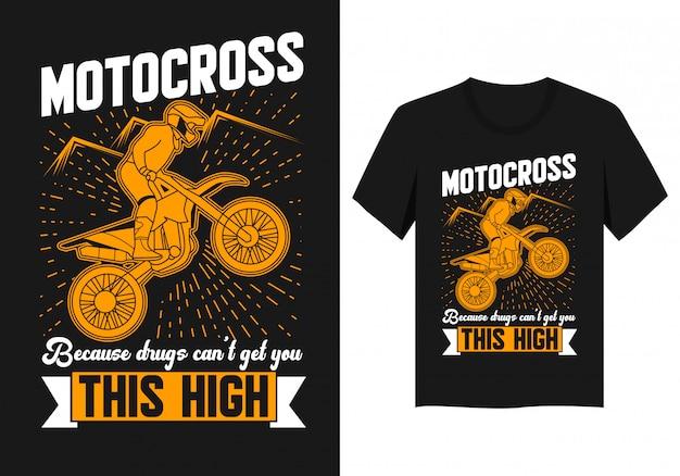 Projeto da camisa do t do motocross