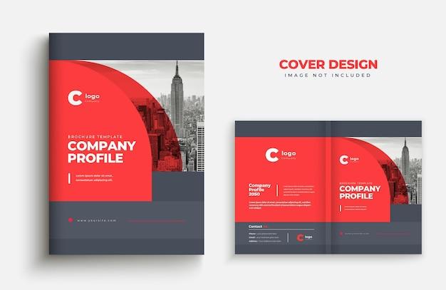 Projeto da capa do folheto comercial modelo do perfil da empresa capa do design da capa do livro