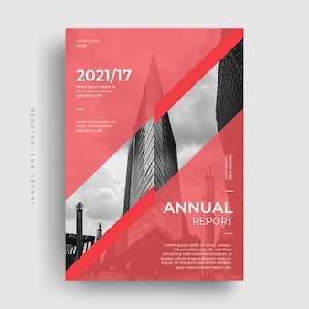 Projeto da capa do folheto do folheto do relatório anual corporativo moderno