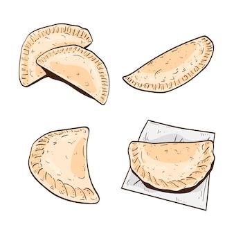 Projeto da coleção empanada
