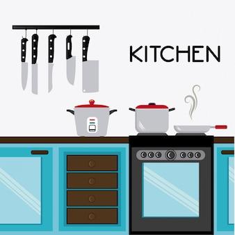 Projeto da cozinha.