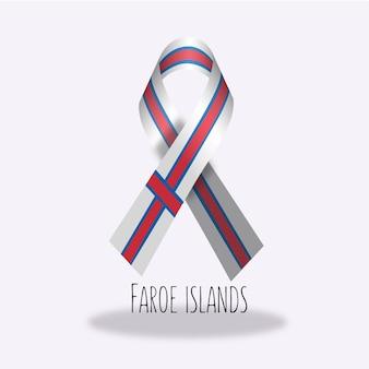 Projeto da fita da bandeira das ilhas faroe