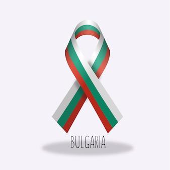 Projeto da fita da bandeira de bulgária