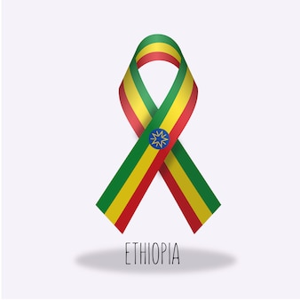 Projeto da fita da bandeira de etiópia