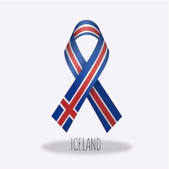 Projeto da fita da bandeira de islândia
