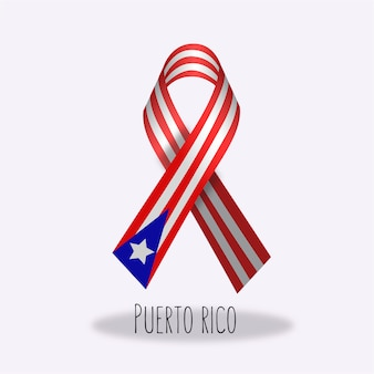 Projeto da fita da bandeira de puerto rico