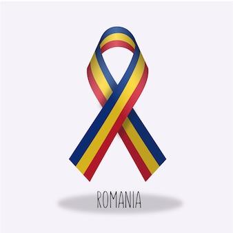Projeto da fita da bandeira de romania