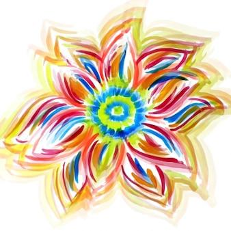 Projeto da flor da aguarela